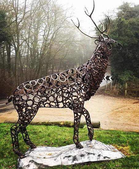 Prancing Stag Sculpture