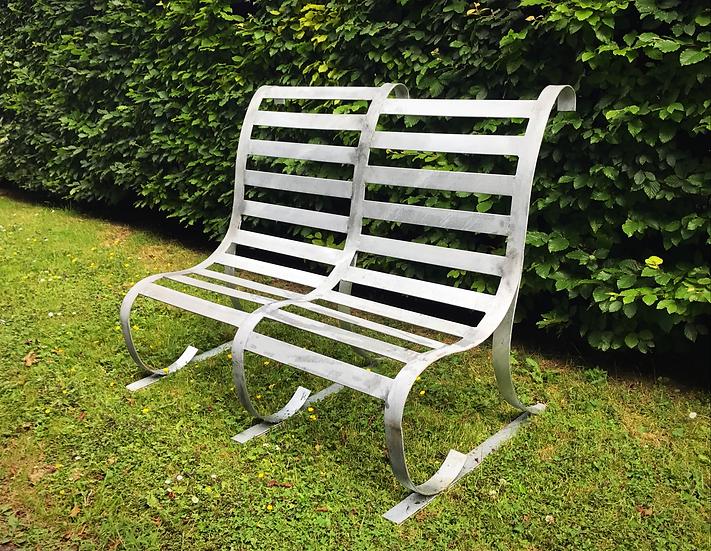 Contemporary Handmade Metal Bench