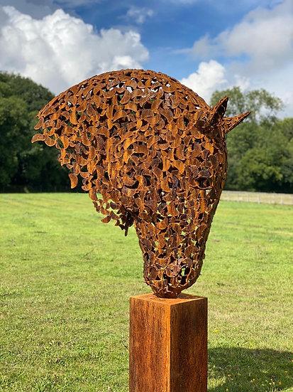 Rustic Patina Horse Head