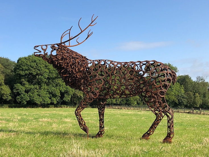 NEW Bellowing Stag Sculpture
