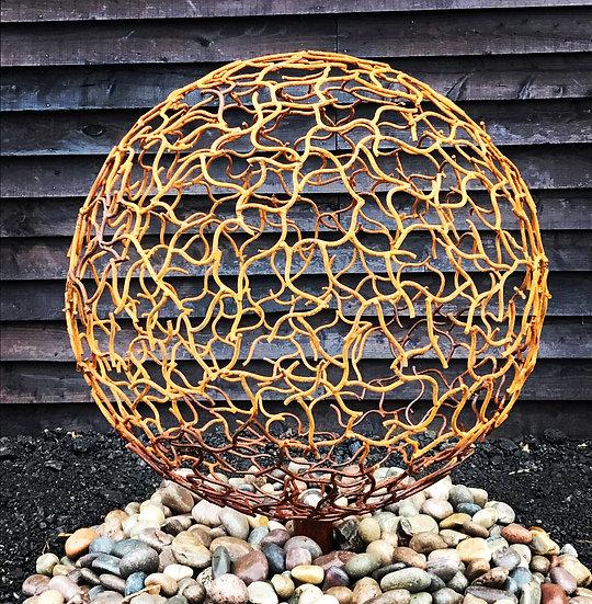 Organic Rustic Sphere Sculpture