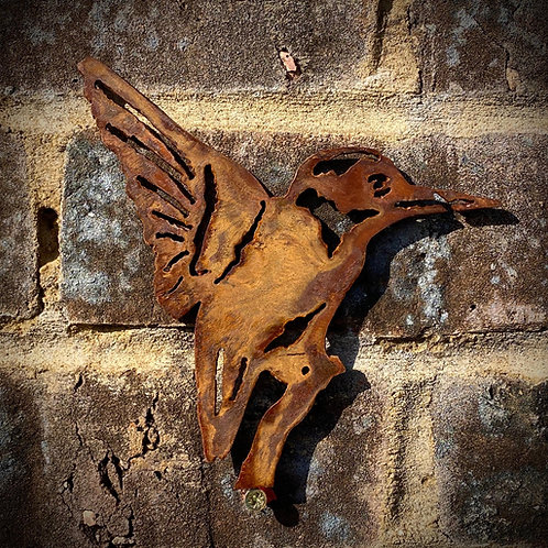 Selection Of Rustic Metal Wall Birds Garden Art Sculpture