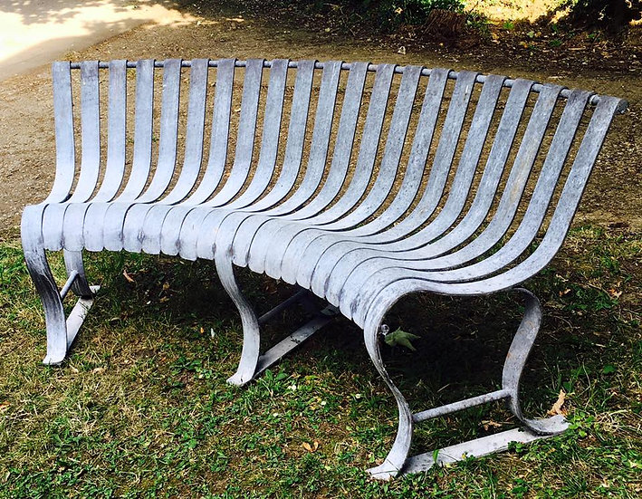 Curved Metal Bench