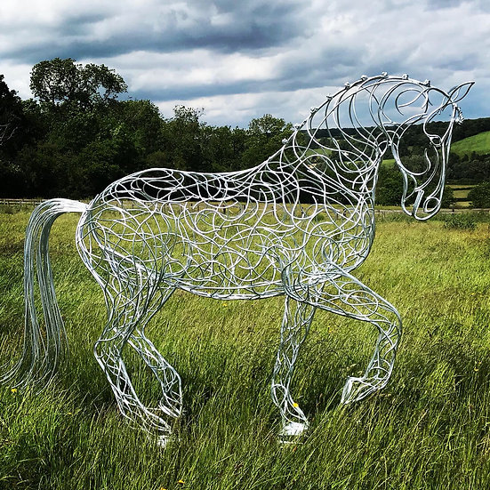 'Perfecting Piaffe' Dressage Horse Sculpture