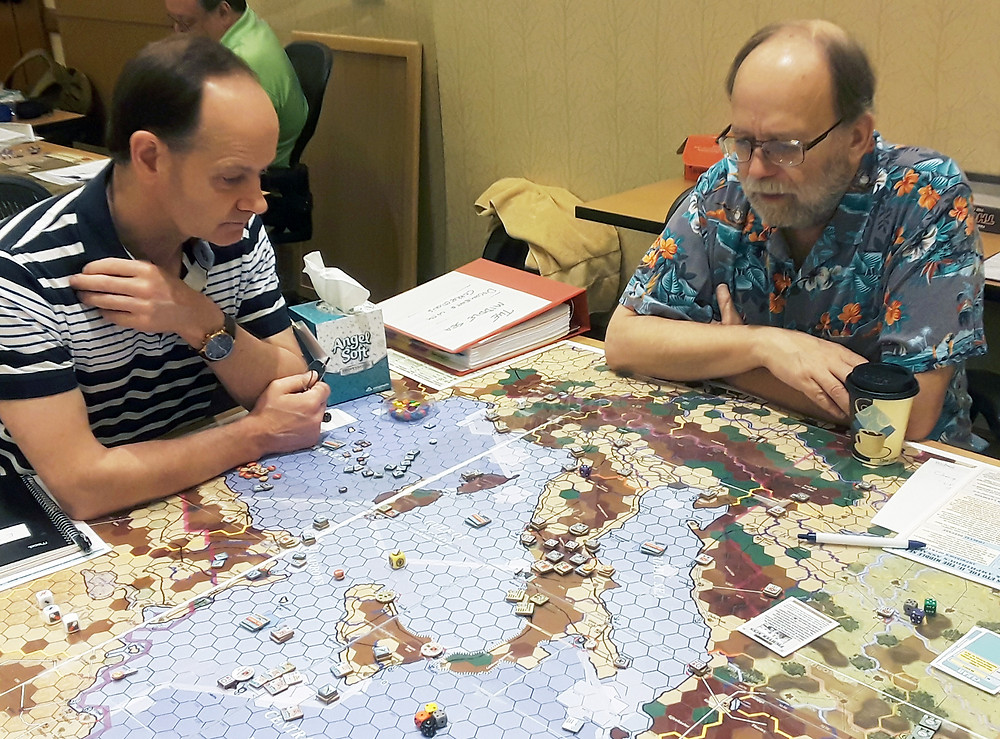 TMS playtesting with Frank Chadwick