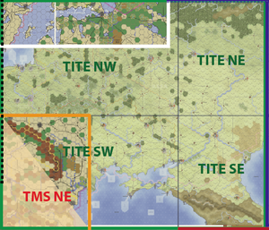 The THUNDER IN THE EAST maps.
