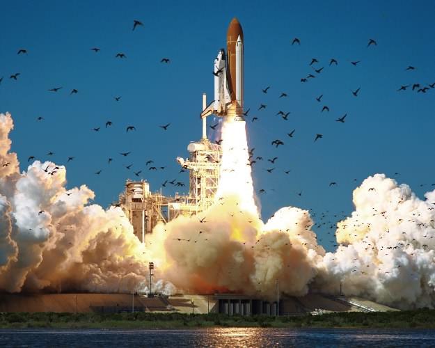 Despegue del transbordador espacial, 73 segundos después, se produjo su explosión. || Fuente : Nasa .