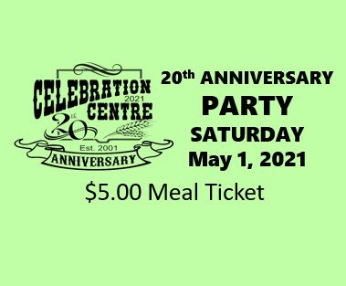 Anniversary Celebration Meal Tickets