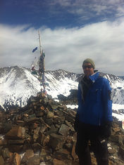 Hawkeye atop New Mexico's Kachina Peak