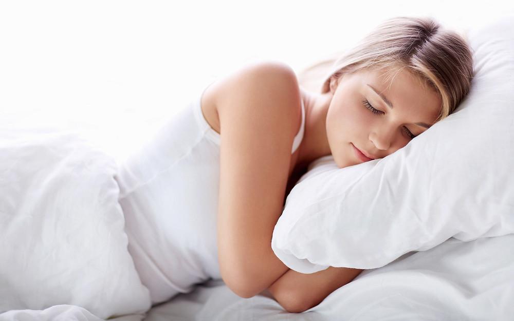 a girl sleeping in the sideways