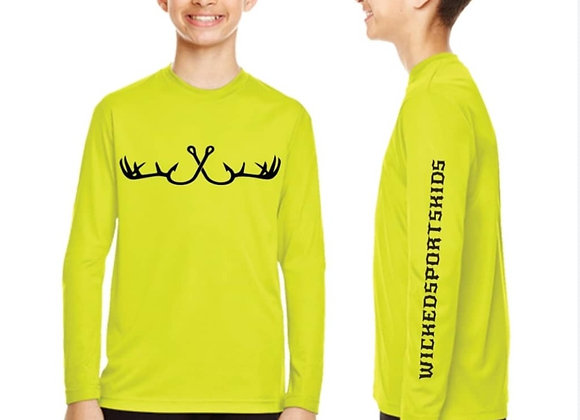 WICKEDSPORTSKIDS Youth Performance Long-Sleeve T‑Shirt