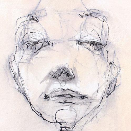 Woman portrait, Acrylic, 12,5x11cm