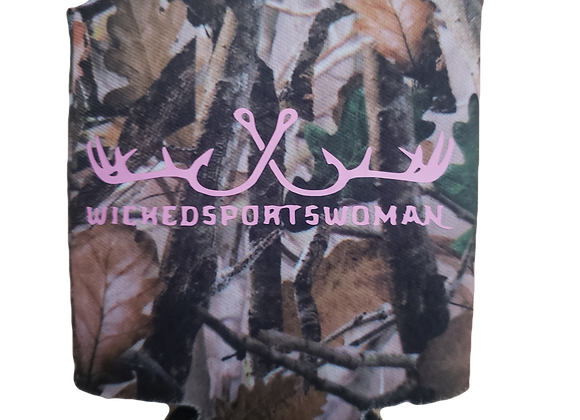 Camo WICKEDSPORTSWOMAN can or bottle koozie