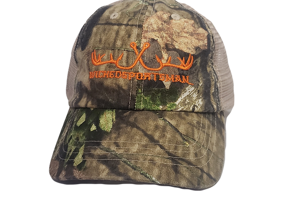 WICKEDSPORTSMAN washed mesh-back cap