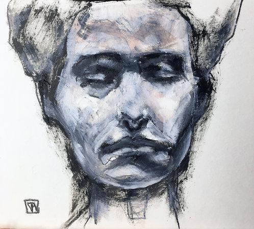 Untitled, Oilon paper board  +/-12x12cm /4,9x4,3inch