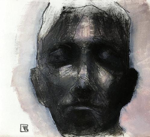 Untitled, Framed, Oilon paper board  +/-12x12cm /4,9x4,3inch