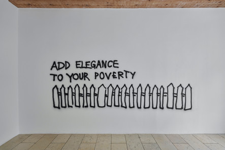Monica Bonvicini, Add Elegance to Your Poverty, 2002