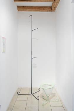 "Jochen Weber: ""Figur 63 (Dusche)"" and ""Figur 62 (Toilette)"", both 2015"