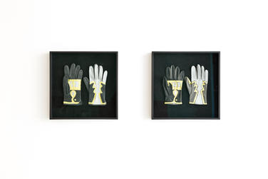 Paulina Olowska Slavic Goddesses Gloves (design after Sofia Strjernka, 2017