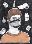 Niusha Ramzani, Quarantine Drawings, 2020