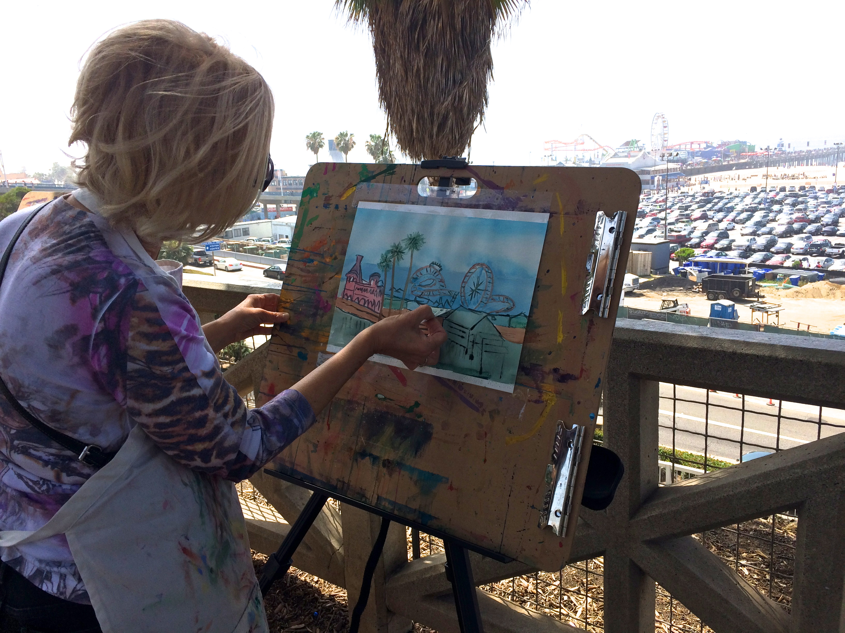 Painting the Santa Monica Pier