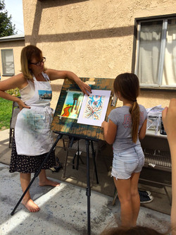 """Girls Scouts get their """"Art Badge"""""""