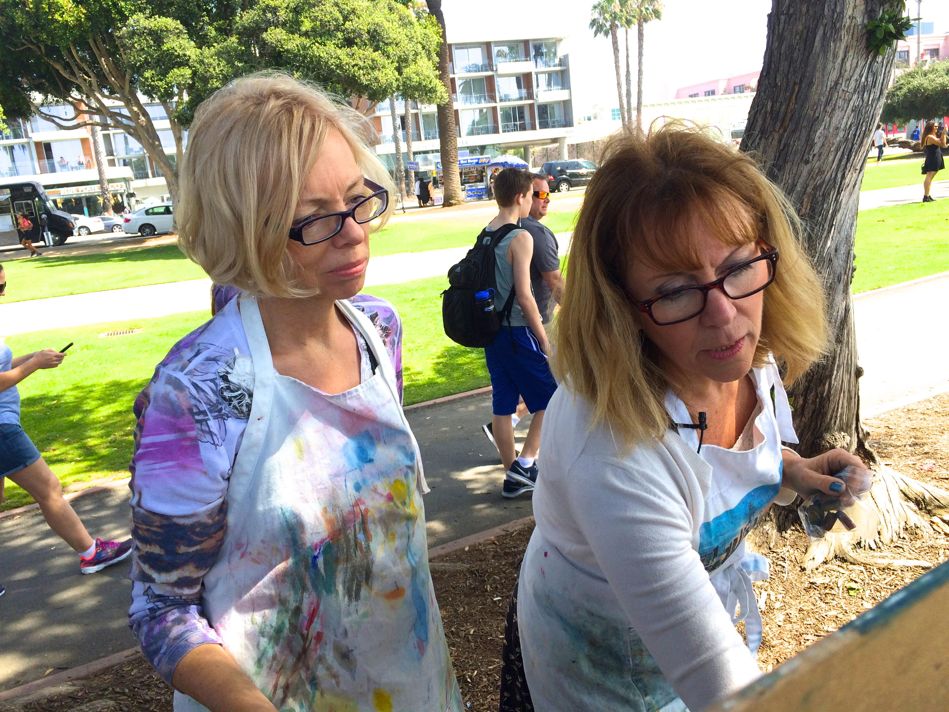 Painting the Santa Monica Pier