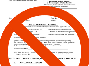 SHOULD I REAFFIRM MY MORTGAGE AGREEMENT AFTER MY CHAPTER 7 BANKRUPTCY?