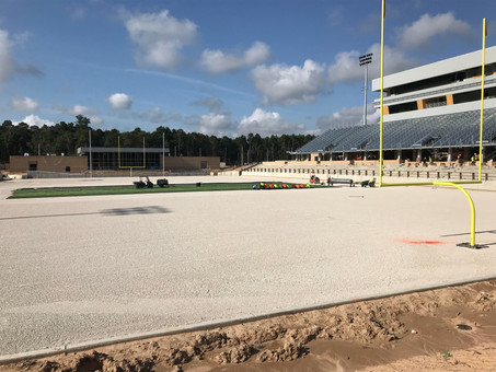 News Flash!  Spring ISD Stadium Update: Turf Installation Began Today