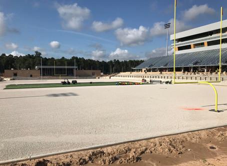 News Flash!  Spring ISD Stadium Update: Turf Installation Began Today