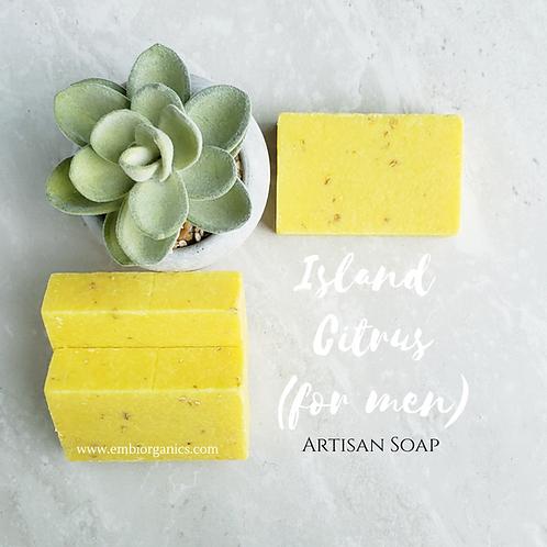 Island Citrus (for Men) Scrubbing Bar Soap