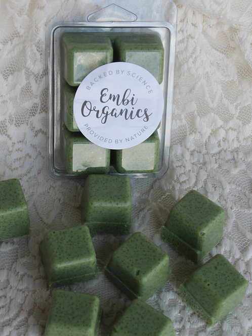 Shower Sugar Scrub Cubes -Matcha Tea