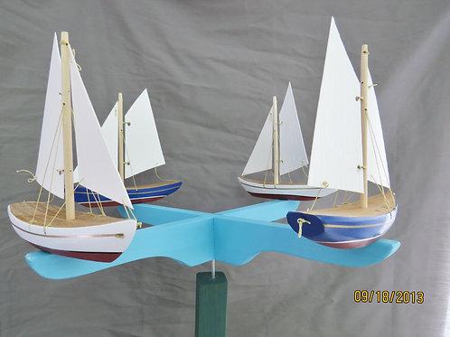 699 4 Sailboat Whirligig