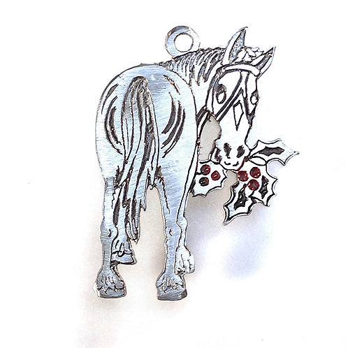 """161 """"Holly Horse"""" Ornament"""