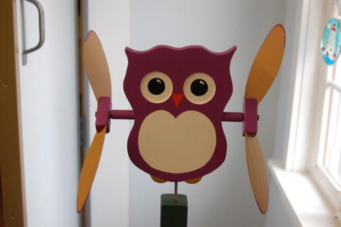 606 owl whirligig