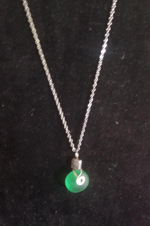"146 ""Twice Tossed Sea Glass"" Single Necklace"
