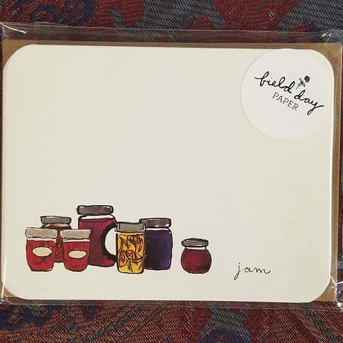"1020 ""Jam"" Blank Note Cards - Set of 4"