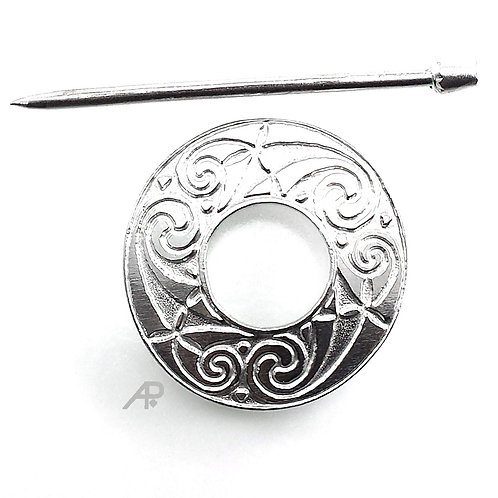 "1137 ""Temple Spiral"" Shawl Pin"