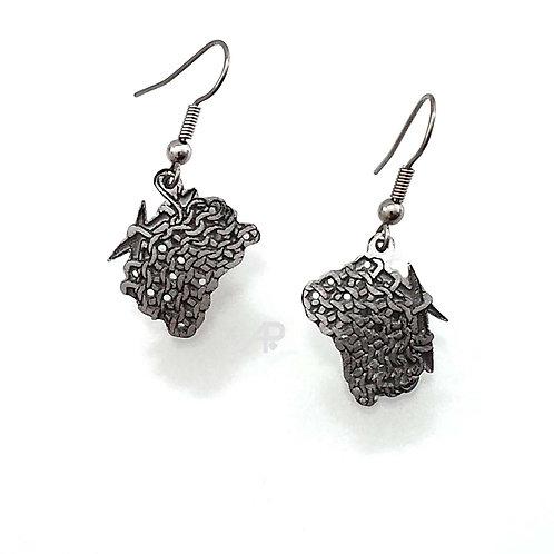"848 ""Knitting"" Earrings"