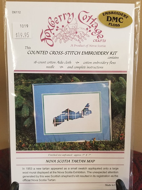 "1019 ""NS Tartan Map"" Cross Stitch Embroidery Kit"