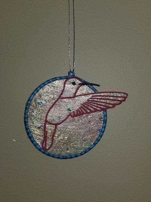 """167 """"Humming Bird"""" Shimmer Ornament"""