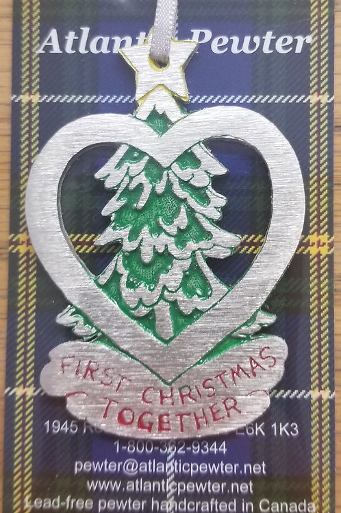 """161 """"First Christmas Together"""" Ornament"""
