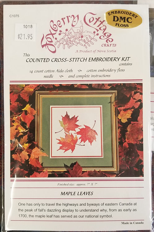 "1018 ""Maple Leaves"" Cross Stitch Embroidery Kit"