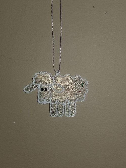 "167 ""Sheep"" Shimmer Ornament"