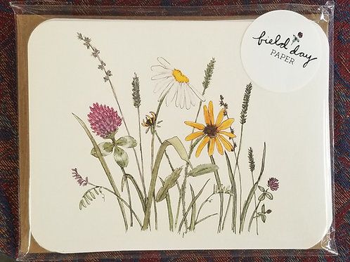"1020 ""Field Flowers"" Blank Note Cards - Set of 4"