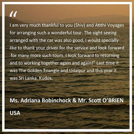 Testimonial Atithi Voyages