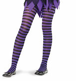 Purple Stripe Stockings