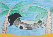 Mr. Green Lounges Illustration