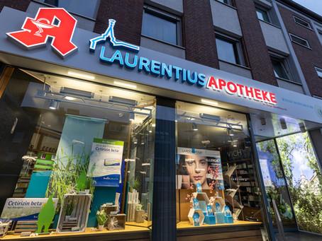 Laurentius-Apotheke mit neuem Logo und neuer Außendarstellung