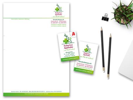 Neues Corporate Design für die Hubertus-Apotheke